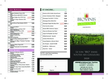 Aktuelle Broschüre von BIOVINIS