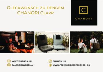 Nouvelle brochure de Chanori