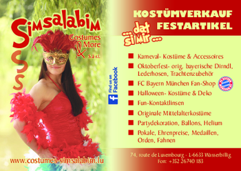 Aktuelle Broschüre von Simsalabim Costumes & More