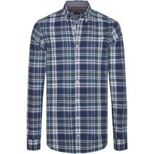 Tommy Hilfiger Bunt kariertes Slim Fit Hemd blau/grau/grün-M