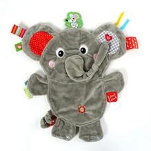 Elephant doudou plat et doux