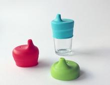 SipSnap TOT Sandbox - Set mit 3 weichen Deckeln für Gläser, Becher, Tassen