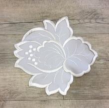 Napperon Fleur grise 25cm (uni)