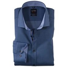 Olymp Body Fit: Musterhemd blau-39