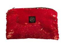 Red Vernis Sequin Pocket