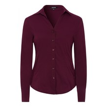 More & More Businessbluse lila/rot-40