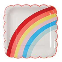 Assiettes arc-en-ciel licorne (grand)
