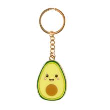 Fröhlicher Avocado Schlüsselanhänger