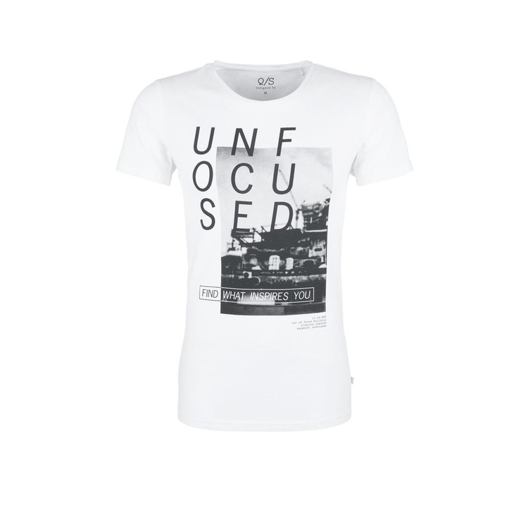 47696635bbfe Q S designed by Jerseyshirt mit Fotoprint grau weiß-XL   Ettelbruck