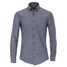 Casamoda Hemd mit modischem Druck grau/weiß-XL