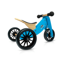Blue Tiny Tots Trikes are the smallest 2-in-1 balance bike