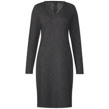 Street One Kleid mit Fischgrätenmuster grau-34