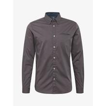Tom Tailor Gemustertes Hemd braun/grau-M
