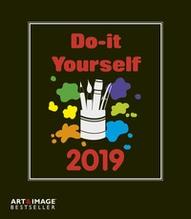 Do-it-yourself schwarz 2019 Bastelkalender Art&Image, Maße(B/H): 21 x 24 cm, Dt/niederländ/engl