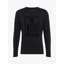 Tom Tailor Langarmshirt mit Brustprint schwarz-S