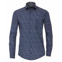 Casamoda Hemd mit modischem Druck blau/grau/weiß-XXL