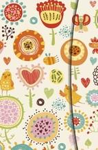 Magneto Blank Books small Flower Fantasy Blankobuch 10 x 15 cm, mit Magnetverschluss, Einlegeblatt liniert & kariert, mit Tasche für lose Notizen und
