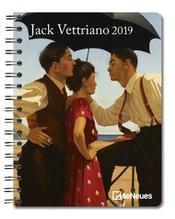 Vettriano, Jack: Jack Vettriano 2019 Maße(B/H): 16,5 x 21,5 cm, Buchkalender, 1 Woche/1 Seite, Dt/niederländ/engl/ital/span