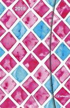 Watercolours 2019 Maße(B/H): 10 x 15 cm, Magneto Diary - Buchkalender, Mit Magnetverschluss, Dt/niederländ/engl/ital/span