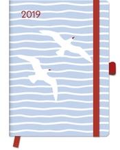 Sea 2019 GreenLine Diary, Maße(B/H): 16 x 22 cm, Buchkalender, Mit Gummibandverschluß und Tasche für lose Notizen, Dt/engl